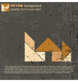 Tangram house vector image vector image