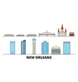 united states new orleans flat landmarks vector image vector image