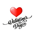 valentine s day hand drawn black lettering and vector image vector image