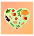 vegetable heart vector image