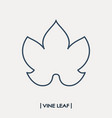 Vine leaf outline icon grape leaf