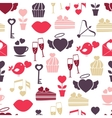 Wedding and Valentines Day seamless pattern vector image