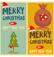Two Christmas Greeting Cards vector image