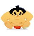 sumo wrestler vector image