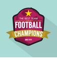 2016 Football Champions Badge vector image