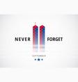 911 september 11 attacks conceptual logo banner w vector image vector image
