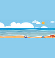 a panorama ocean landscape vector image