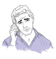 a young man talking on phone