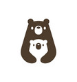 bear mom and son cub logo icon vector image
