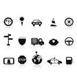 black traffic icon vector image
