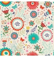 Blooming flowers pattern vector image