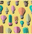 bulb logo icons set pattern vector image vector image