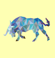 Bull low polygon style vector image vector image