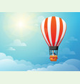 businessman in hot air balloon search to success vector image vector image
