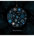 Christmas ball of the Snowflakes vector image vector image