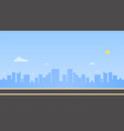 cityscape with main street and sky background vector image