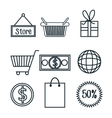 commerce icons design vector image vector image