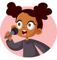 cute african girl singing vector image