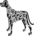 dog tattoo vector image vector image