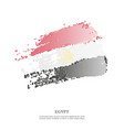 egypt flag with halftone effect vector image