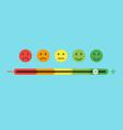 feedback concept design feedback emoticon flat vector image