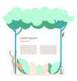 forest with wild animals vector image vector image