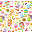fruit juice drink cute cartoon gift wrapping desig vector image vector image