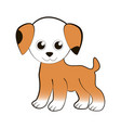 funny little puppy vector image vector image