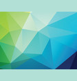 geometric blue green texture background vector image vector image