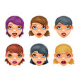 girls stylish woman lips slightly open mouth vector image vector image