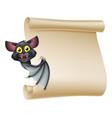 halloween bat scroll vector image vector image