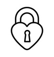 heart lock icon on white background vector image vector image