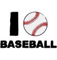 I love baseball vector image vector image