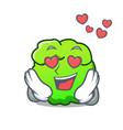in love shrub mascot cartoon style vector image