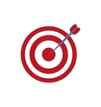 Isolated target dartboard vector image vector image