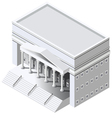 Isometric Government building vector image vector image