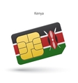 Kenya mobile phone sim card with flag
