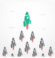 leadership concept with rockets in isometric style vector image vector image