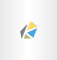 letter k with triangles logo logotype icon vector image
