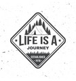 life is a journey summer camp concept vector image vector image