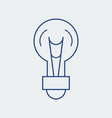 light bulb line icon lamp vector image