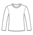 Long-sleeved T-shirt template vector image vector image