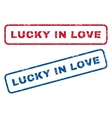 Lucky In Love Rubber Stamps vector image vector image