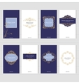 Luxury vintage card templates set vector image vector image