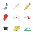 Magistracy icons set cartoon style vector image vector image