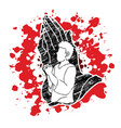 man prayer praise to the lord vector image vector image