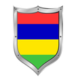 Mauritius flag button vector image vector image