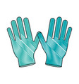 medical gloves isolated vector image vector image