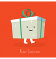 merry christmas cute gift box coming vector image