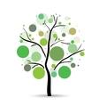 Multicolored circles tree vector image